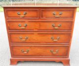 Georgian Style Yew Large Chest of Drawers